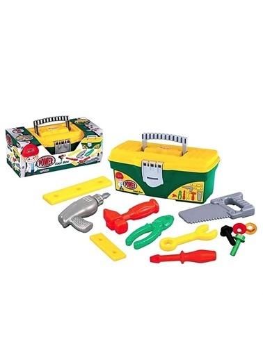 Dede Dede Power Takım Çantası 12 Parça Eğitici Oyuncak Tamir Seti03030 Renkli